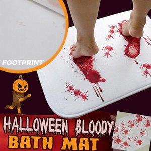 Carpets Bath Mat Halloween Decoration Blood Bathroom Color Changing Floor Rug Kitchen Toilet Decor