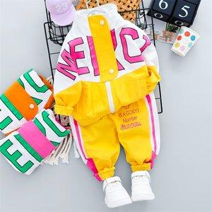 HYLKIDHUOSE NOUVEAU NEUN NOUVEAU Vêtements pour nourrissons Ensembles 2020 Automne Bébé Filles Garçons Vêtements Vêtements Manteaux Pantalons Enfants Enfants Costume occasionnel 771 V2