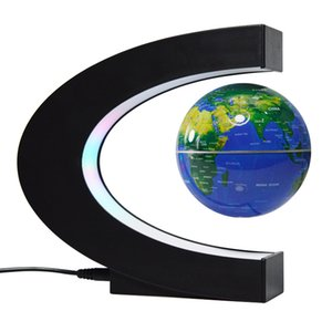 Magnetic Levitation Globe Night Light Floating World Map Ball Lamp Cool Lighting Office Home Decoration Terrestrial Globe lamp 1460 V2