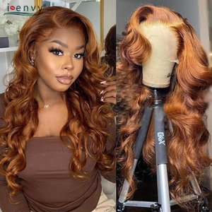 Lace Wigs Blonde Highlight Front Human Hair Body Wave Brazilian Ginger Wig 13X4 Orange Frontal