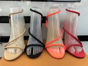 sandal Narrow band Gladiator Heeled Sandals Neon Women Candy Color Discotheque Stiletto High Heels Open Fingers Pista Shoes