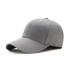 Hüte Massivfarbe Casual Baseball Dome Cornice Einfache Baumwolle Outdoor Sport Cap