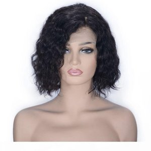 Brazilian Hair Wigs 130% Density Remy Hair Pixie Cut Curly Full Lace Wigs 8 inch Side Part Short Human Hair Wigs