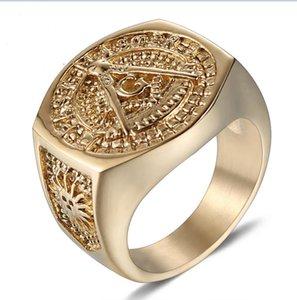 eejart Stainless Steel Masonic Ring for Men Freemason Symbol G Templar Freemasonry Rings