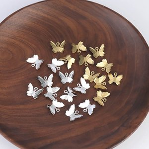 20pcs Copper Brass Butterfly Pendant Charms For Necklace Bracelet Earrings Butterfly Jewelry Making Findings Accessories 1179 Q2