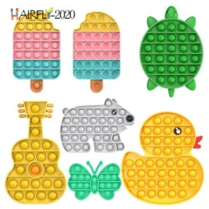 Push Bubble Pop it Fidget Toys Ice Cream Guitar Elephant Duck Turtle Autism Needs Anti-Stress Relief Toy Adult Gift for Kids DHL A13