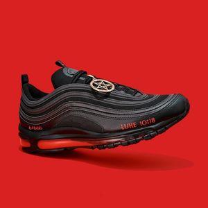 Sapatos Cool MSCHF LIL NAS SATAN 97 97S Luke Homens High Homens 36-45