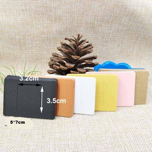 5*7cm multi color DIY blank hair claw barrette products packing card paper hair clip display card 100pcs per lot
