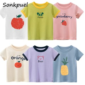 Baby Girl T-shirt Tops Child Infant Tollder Girl T-shirt Tee Shirts Children Girl 2-8 Years Summer Short Sleeves Cotton Tees