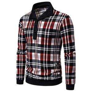 Designer Sweater Men Fashion Plaid Pullover Button Zipper Collar Sweter Coats Classic Slim Thin Jersey Mens Knitted Sweaters