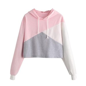 ChamsGend Womens Blouse Long Sleeve Hoodie Sweatshirt Jumper Hooded Pullover Tops 180205 Women's Blouses & Shirts