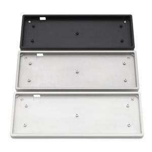 Keyboards Anodized Aluminium Jj40 Bm40 Flat Case With Metal Feet For Custom Mechanical Keyboard Black Siver Grey Colorway 40% Mini