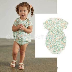 ENKELIBB MISHA UND PUFE Baby Mädchen Floral Romper Schöne Vintage-Stil-Overall Sommer Misha Puff Kleinkind-Mädchen-Kleidung 210303 752 Y2