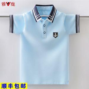 Yalu short summer Lapel polo shirt children's T-shirt half sleeve boys' top