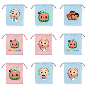 Cocomelon JJ Little Boy's Family Drawstring Bags Backpack Cartoon Printed Kids Canvas Storage Bag Children's Day Cute Boys Girls Gifts gG33B4L2