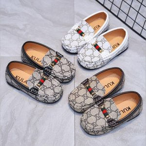 Kids Shoes Sneakers For spring Children Boys Casual Leather Peas Shoes Toddler Soft Bottom Shoes Comfortable Size 21-30