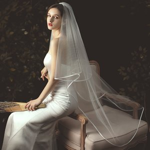 2021 The new bride wedding veil comb packet sideband fashion 2 t ivory white church wedding accessories