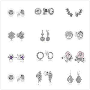Pandora women's earrings, 925 sterling silver, round teardrop shape, eternal love knot, jewelry gift