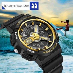 Wristwatches LIGE 2021 Children Waterproof LED Electronic Digital Watch Kids Chronograph Clock Sport Watches 5Bar For Boys Girls 21ss
