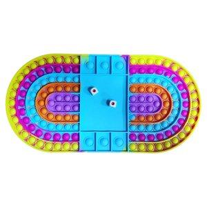 US сток большой игрой fidget игрушечная вечеринка forage радуга шахматная доска push bubble сенсорные игрушки для родительской детской интерактивной игры