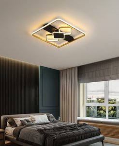Nordic Bedroom Ceiling Lamp Modern Minimalist Light square   Rectangle Creative Personality Ultra-thin Room Study Lighting R284