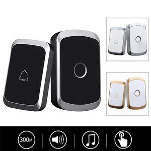 Doorbells 2021 Wireless Doorbell Waterproof 300M Remote EU AU UK US Plug Smart Door Bell Home Security