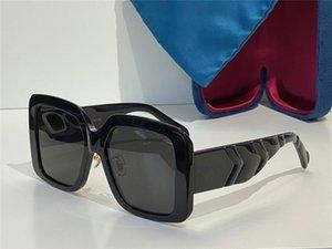 Солнцезащитные очки для женщин Летний Стиль Анти-Ультрафиолетовый 0906S Ретро Щит Линза Линза Плита Полная рамка Мода Eyeglasses Случайный Коробка 0906