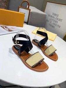 fashion Luxurys Designers Women Sandals Slides sandal Summer Gladiator Woman Casual Flat Shoes Ladies Beach Roman shoe 35-43