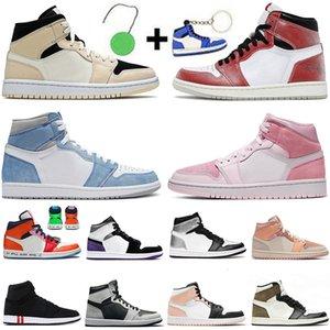 Erkek Bayan Basketbol Ayakkabıları 2021 En Kaliteli Jumpman 1 1 S Yüksek OG Hyper Kraliyet Büküm Obsidiyen UNC Melody Korkusuz Karanlık Mocha Sevgililer Günü Eğitmenler Sneakers Szie 12