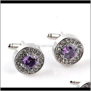 Crystal Formal Business Shirt Link Button Round Zircon Diamond Cufflinks For Men Fashion Jewelry Gift Lxbih Links I2Wfo