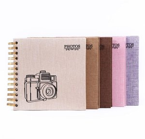 5 Colors DIY Photo Album Family Memory Notebook Picture Albums Lovers Birthday Gift Wedding Baby Photo 210330