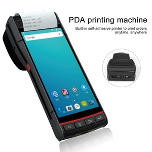 Printers Handheld Terminal Mobile Smart PDA Built-in Label Sticker Thermal Printer Android 8.1 1D 2D Barcode Scanner