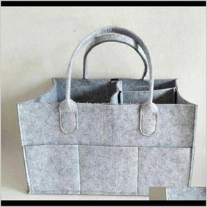 Baby Bags Gray Infant Diaper Tote Portable Car Travel Organizer Felt Basket Born Girl Boy Nappy Storage Bag Favor P1Lqb Pwujk