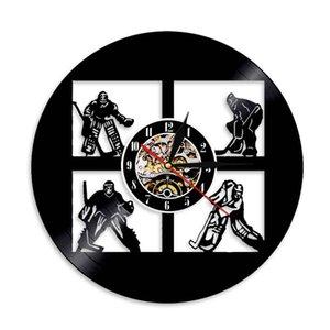 Виниловые записи настенные часы спортивные часы часов хоккей хоккей ручной работы настенные стены искусства декор домохозяйственный подарок для молодежи мужчин женщин-06