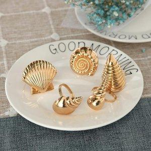 8  piece creative Ocean series shell napkin button restaurant table set napkin button accessories