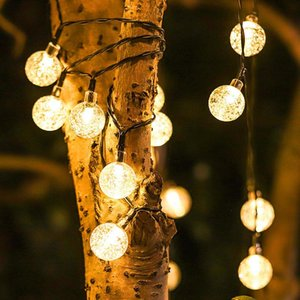 Strips 50 LEDs 7m Crystal Ball Solar Light Outdoor IP44 Waterproof String Fairy Lamps Garden Garlands Christmas Decoration