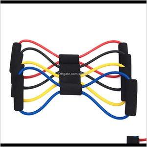8 Sfumato Sviluppatore Gym Resortance Bands Elastico Pull Rope Cassa Speestro Sport Yoga Fitness Pilates Belt Body Forma Assistenza sanitaria RZY4M 96H8N