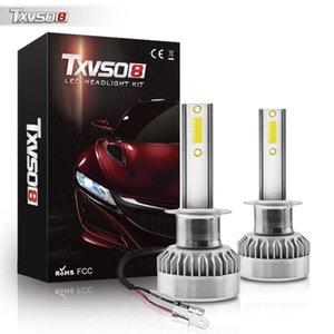Car Headlights TXVSO8 2021 H1 Led Canbus 12V 110W Headlight Bulbs Accessories 6000K 20000LM Universal Auto Headlamps Lights