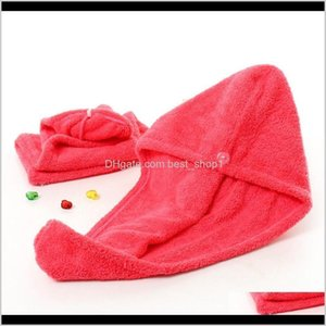 Bath Baby, Kids & Maternity Drop Delivery 2021 Shower For Magic Quick Dry Microfiber Drying Turban Wrap Hat Cap Spa Bathing Caps Hair Towel 2