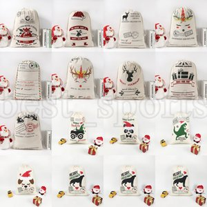 Christmas Gift Bags Canvas bag 50*70cm Santa Sack Drawstring Bag ZZA3406