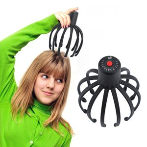 Head Massager TPE 3D Octopus Electric Scalp Stress Relax Spa Healing Health Care Tool Body Head Massage Beauty Tool Rechargeable