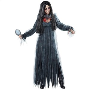 Halloween Witch Vampire Costume Adult Female Day Of The Dead Vampire Queen Carnival Party Cosplay Costume Ghost Bride