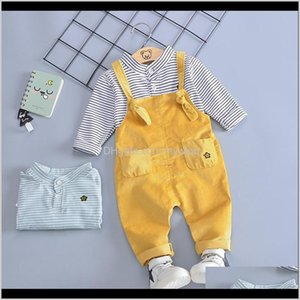 Baby, Kids & Maternity Drop Delivery 2021 Boys Overall Clothing Sets Spring Autumn Toddler Fashion Cotton Tops+Bib Pants 2Pcs Tracksuits For