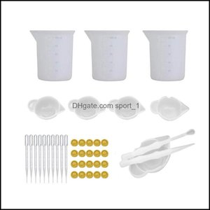 Molds Jewelry & Equipment Jewelrydiy Sile Mold Set Measuring Mixing Cup Spoon And Stirrers Epoxy Resin Tools Drop Delivery 2021 Xdcrt