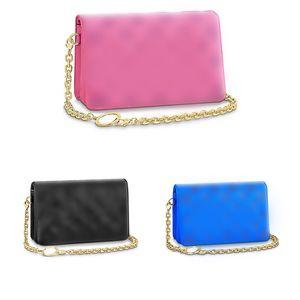 latest style POCHETTE COUSSIN chain crossbody bag Embossed sheep skin Ladies purse women fashion designer handbag clutch bags