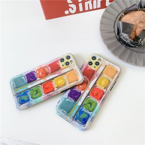 3D Colorful Pigment Phone Cases For iphone 12 Mini 11 Pro Max Fashion Creative SE 7 8 Plus X XR XS Soft Protect Back Cover