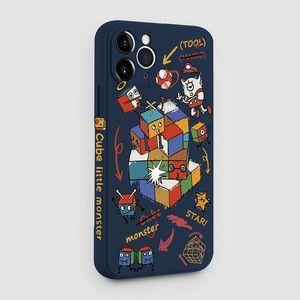Estilo de cuero PU de estilo 3D con titular de la tarjeta Funda protectora a prueba de golpes para iPhone 12 Pro Max 6.7 pulgadas Cubo mágico