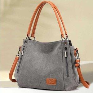 Women Bags Fashion Designer Shoulder Crossbody Bag for Women 2021 Female Messenger Bag Women's Purse Lady Canvas Cloth Handbag C0602