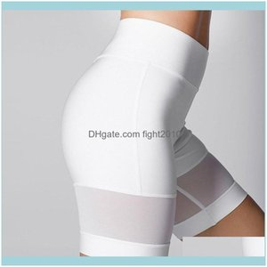 Wear Athletic Outdoor Apparel & Outdoorsladies High Waist Push-Up Sports Gym Running Shorts Tight Yoga Mesh Patchwork Jogging Womens Workout