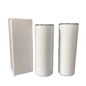 Sublimation Tumbler Double-Layer Stainless Steel Cup with Straw Heat Transfer Coating Vacuum Cup Suitable for Cold Drinks Milky Tea Cup Cust